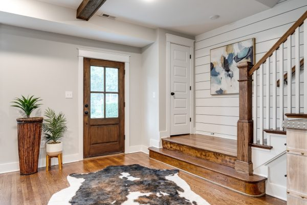 Beautiful entryway in home built by Richmond Hill Design-Build