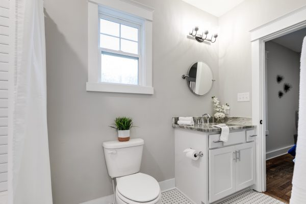 Beautiful bathroom in new home by Richmond Hill Design-Build