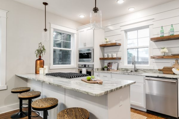 Gorgeous kitchen with island in home built by Richmond Hill Design-Build