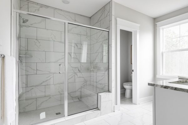 Shower in beautiful home by Richmond Hill Design-Build
