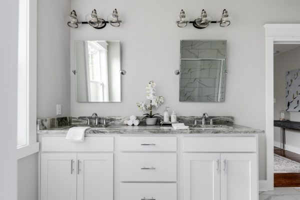 Gorgeous owner's bathroom vanity by Richmond Hill Design-Build