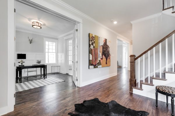 Entryway in renovated home with open floor plan built by Richmond Hill Design-Build
