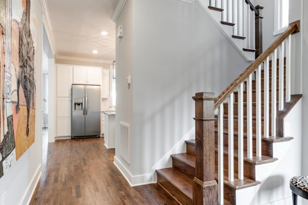 Stairwell in renovated home with open floor plan built by Richmond Hill Design-Build