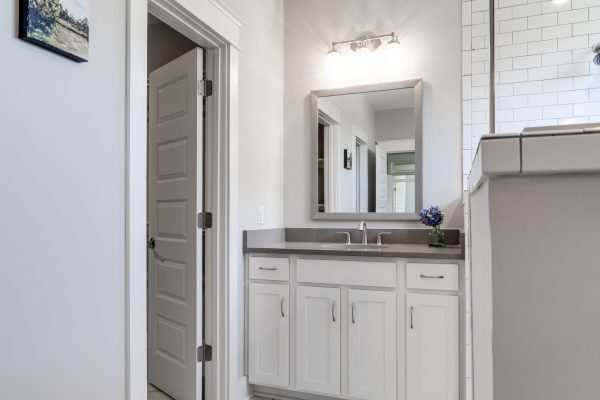 Beautiful bathroom in renovated home by Richmond Hill Design-Build