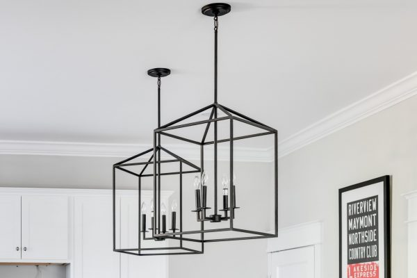 Pendants in kitchen in home built by Richmond Hill Design-Build