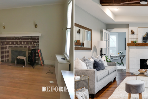 Beautifully updated family room by Richmond Hill Design-Build