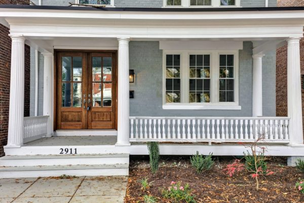 Beautiful front porch of home in Richmond VA by Richmond Hill Design-Build