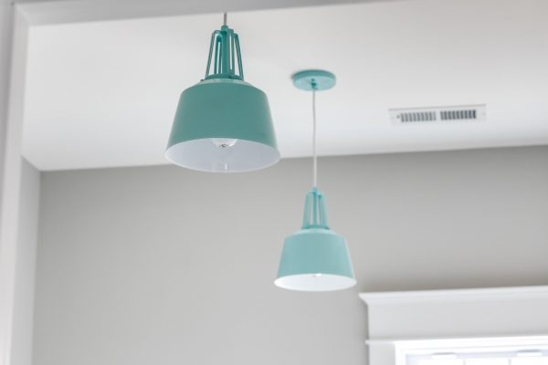 Pendant lighting in home built by Richmond Hill Design-Build