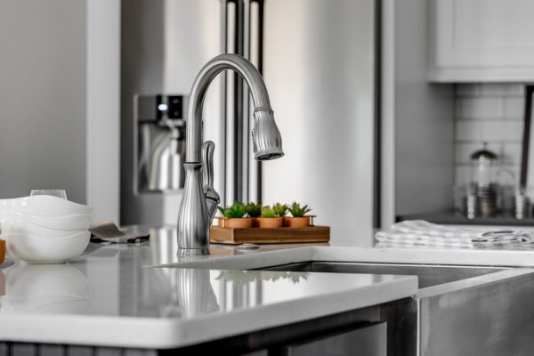 Faucet in kitchen island in new home built by Richmond Hill Design-Build