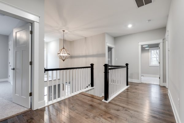 Upstairs foyer in new home built by Richmond Hill Design-Build