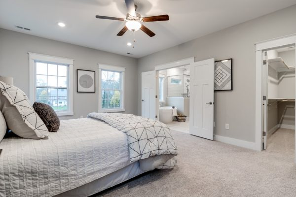 Owner's bedroom in home built by Richmond Hill Design-Build