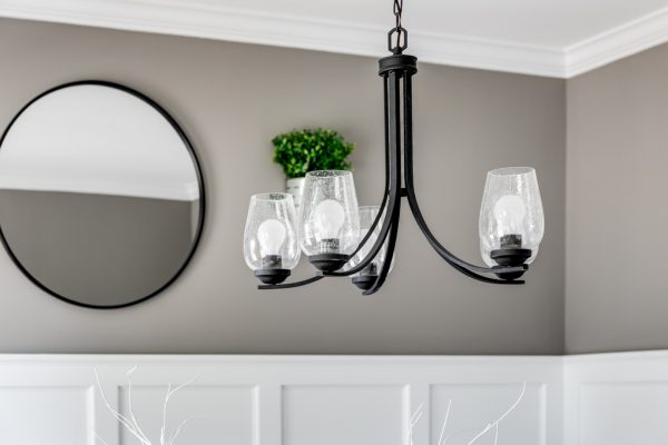 Chandelier in home built by Richmond Hill Design-Build