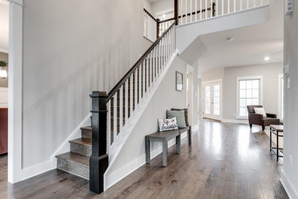 Entryway in new home built by Richmond Hill Design-Build