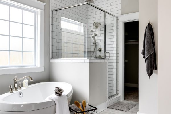 Owner's bathroom in new home by Richmond Hill Design-Build