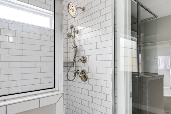 Beautiful shower in new home by Richmond Hill Design-Build