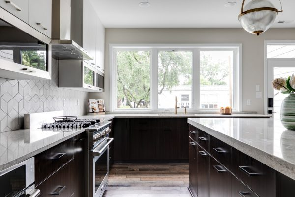 Gorgeous kitchen in new contemporary home by Richmond Hill Design-Build