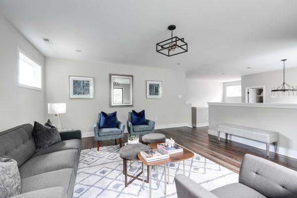 Beautiful loft area in new contemporary home by Richmond Hill Design-Build