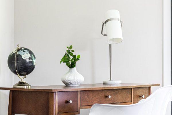 Desk in beautiful loft in new contemporary home by Richmond Hill Design-Build