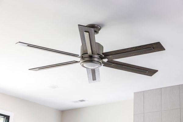 Ceiling fan in new contemporary home by Richmond Hill Design-Build