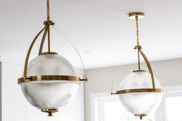 Pendant lights in new contemporary home by Richmond Hill Design-Build