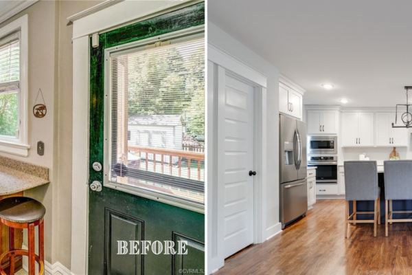 Before and after photos of kitchen by Richmond Hill Design-Build