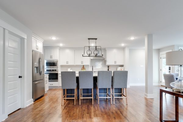 Kitchen island in renovation of home by Richmond Hill Design-Build