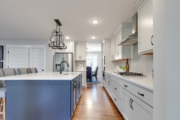 Kitchen island of renovated home by Richmond Hill Design-Build