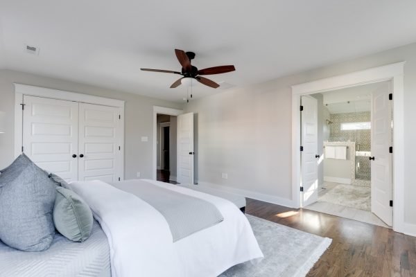 Gorgeous owner's bedroom in renovated home by Richmond Hill Design-Build