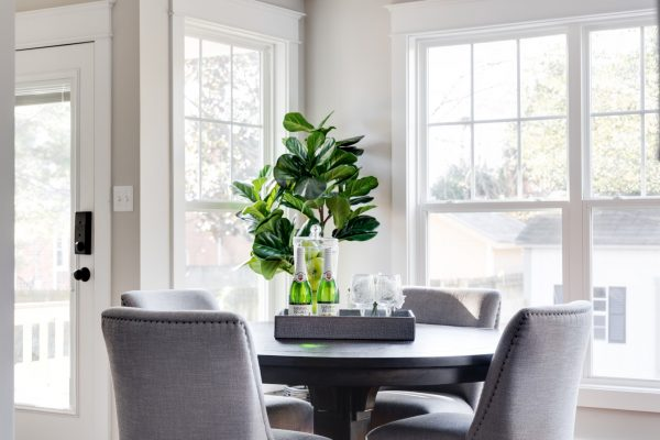 Dining room of renovation of home by Richmond Hill Design-Build