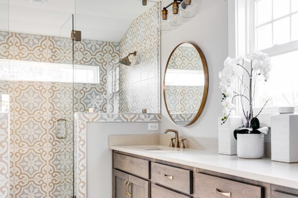 Owner's bathroom in renovated Dutch Colonial home by Richmond Hill Design-Build