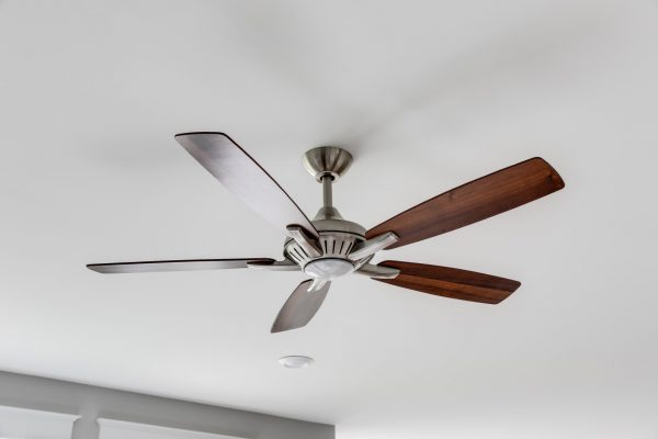 Wooden ceiling fan in home built by Richmond Hill Design-Build