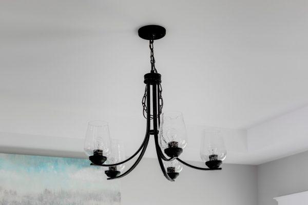 Unique chandelier in home built by Richmond Hill Design-Build