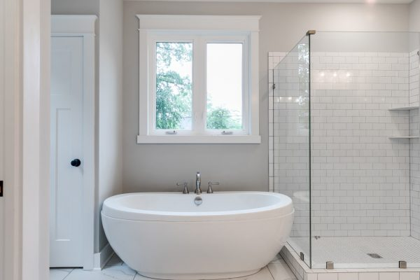 Beautiful owner's bathroom in renovated home by Richmond Hill Design-Build
