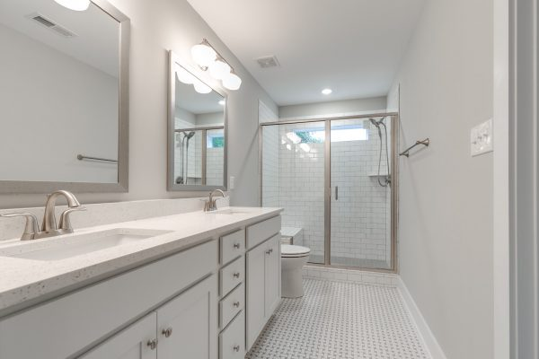 Beautiful guest bathroom in renovated home by Richmond Hill Design-Build
