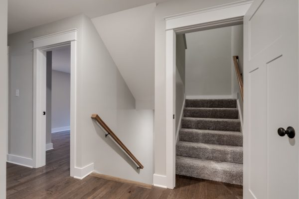Upstairs hallway in new home by Richmond Hill Design-Build
