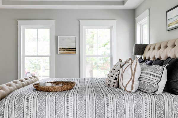 Bedroom in home built by Richmond Hill Design-Build