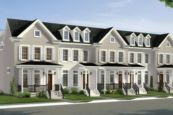 Rendering of townhouses built in Richmond, VA by Richmond Hill Design-Build