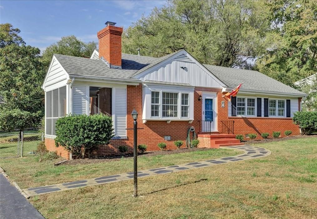 One-story brick home for sale