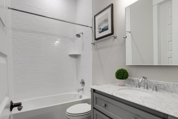 Bathroom in townhouse by Richmond Hill Design-Build
