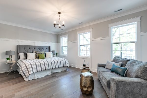 Owner's bedroom in townhouse by Richmond Hill Design-Build