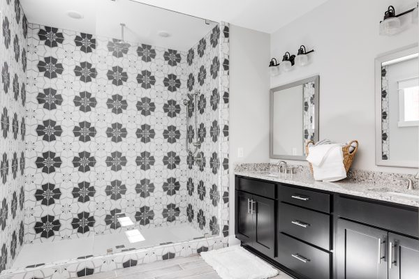 Owner's bathroom in townhouse by Richmond Hill Design-Build