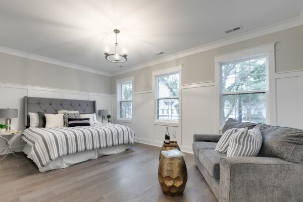 Owner's bedroom in new townhouse by Richmond Hill Design-Build