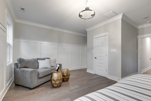 Gorgeous owner's bedroom in new townhouse by Richmond Hill Design-Build