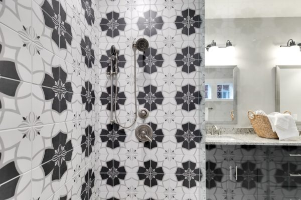 Gorgeous owner's shower in new townhouse by Richmond Hill Design-Build