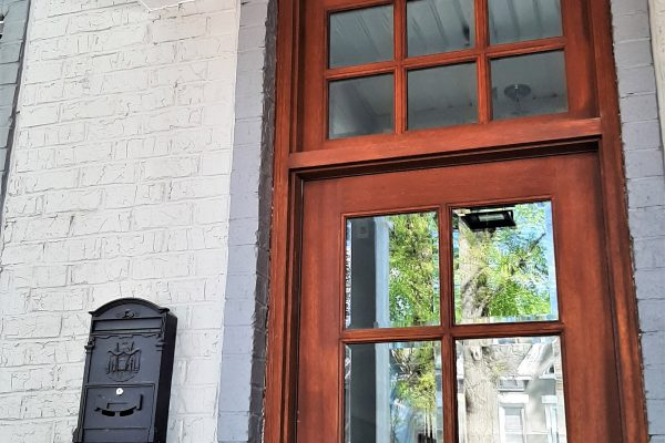 Beautiful front door of townhouse by Richmond Hill Design-Build