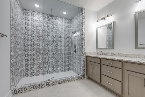 Owner's shower in townhouse by Richmond Hill Design-Build