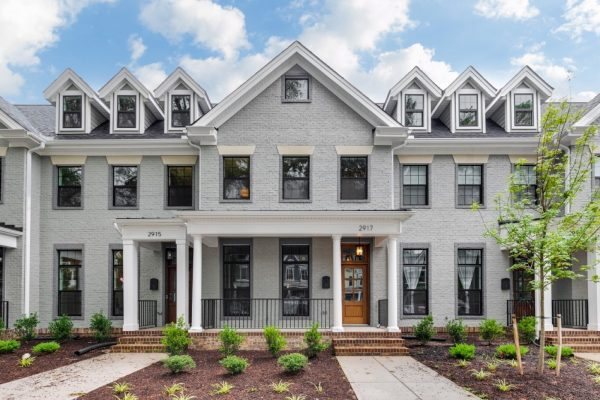 Stunning exterior of new townhome by Richmond Hill Design-Build
