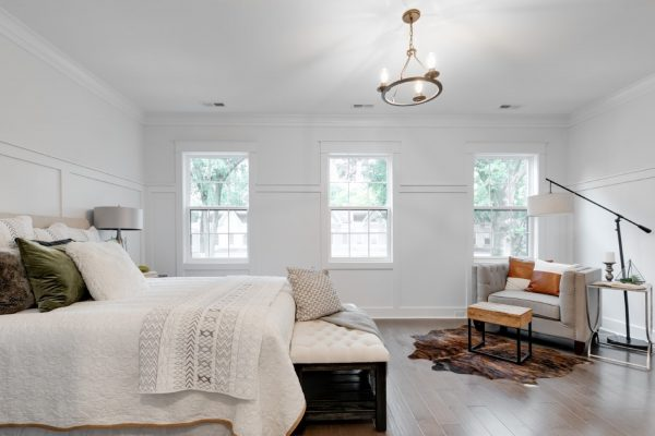Gorgeous owner's bedroom in beautiful new townhouse by Richmond Hill Design-Build