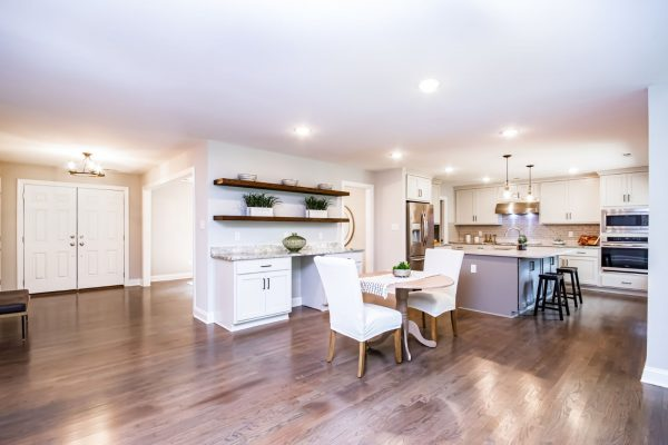 Gorgeous, open floor plan of renovated ranch home on Lake Cherokee by Richmond Hill Design-Build