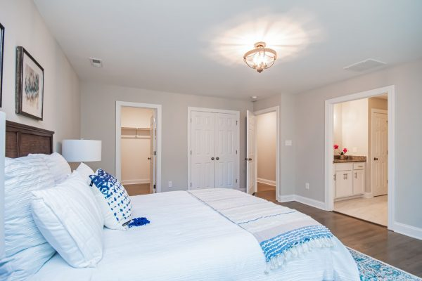 Bedroom in beautiful renovated ranch home by Richmond Hill Design-Build